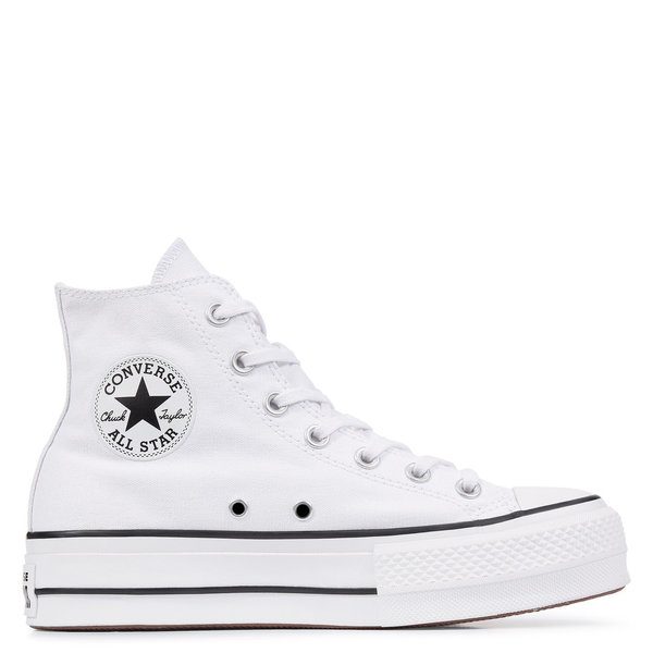 CONVERSE ALL STAR HIGH PLATAFORMA BLANCAS