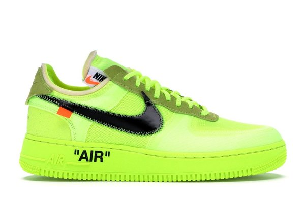 NIKE AIR FORCE 1 x OFF WHITE AMARILLO FOSFORITO